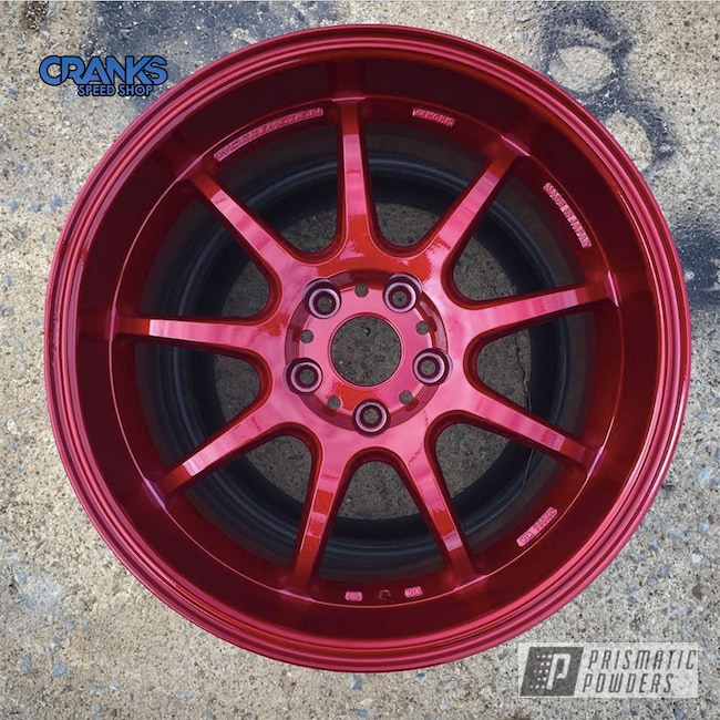Powder Coating: Wheels,Auto Parts,Automotive,Clear Vision PPS-2974,STI,Works Wheels USA,Subaru,Illusion Cherry PMB-6905