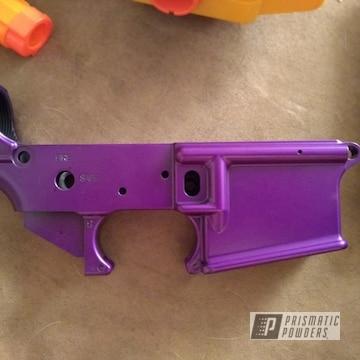 Powder Coated Custom Purple Ar 15 Rifle