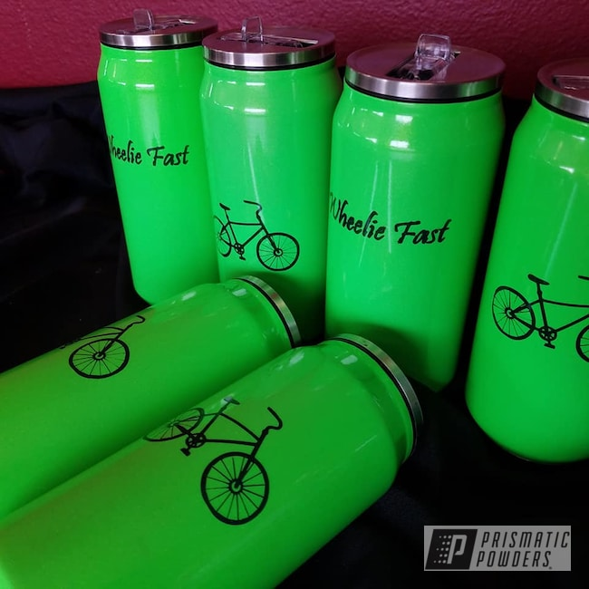 Powder Coating: Clear Vision PPS-2974,Limelite PMB-0869,Ink Black PSS-0106,Drinkware,Custom Cup