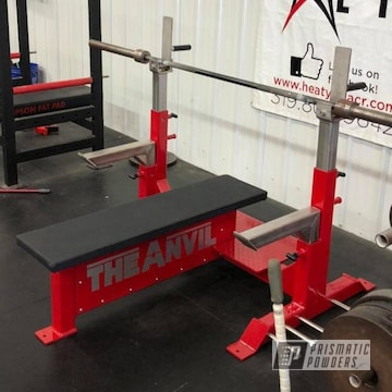 Weight Bench Powder Coated In Ral 3002 A Classic Carmine Red Color