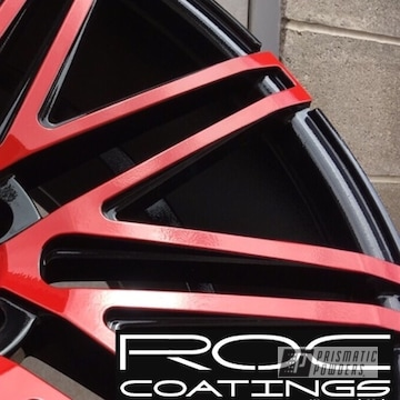 Powder Coated Wheels In A Two Tone Finish