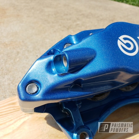 Powder Coating: Auto Parts,Automotive,Clear Vision PPS-2974,SUPER CHROME USS-4482,brembos,Brembo,Brake Calipers,Iced Candy Blue PPB-7086,Subaru