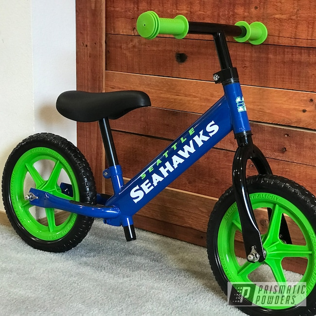 Powder Coating: NFL Theme,Strider,Ford Dark Blue PSB-4624,NFL,Bicycle,Frame,NFL Football Theme,Seattle Seahawks,NFL Football