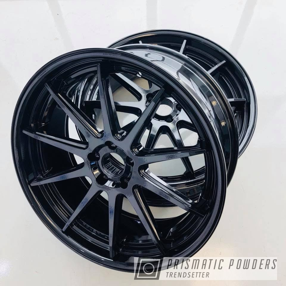 Powder Coating: Wheels,Custom,Automotive,wheel,Black,Pearl Black PMB-5347,Adventus