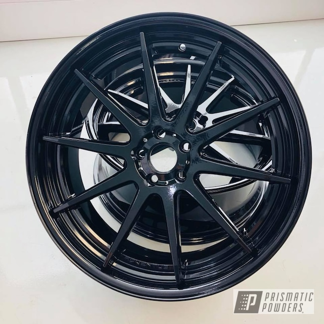 Powder Coating: Wheels,Custom,Automotive,Black,Pearl Black PMB-5347,Adventus