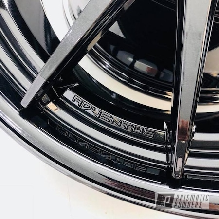 Powder Coating: Wheels,Custom,Automotive,Black,Pearl Black PMB-5347,Adventus