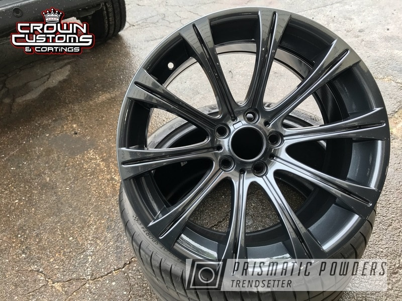 Powder Coating: Wheels,Automotive,Clear Vision PPS-2974,BMW Wheels,BMW,BMW M5 Wheels,Lazer Diamond PMB-4156,Metallic Powder Coating