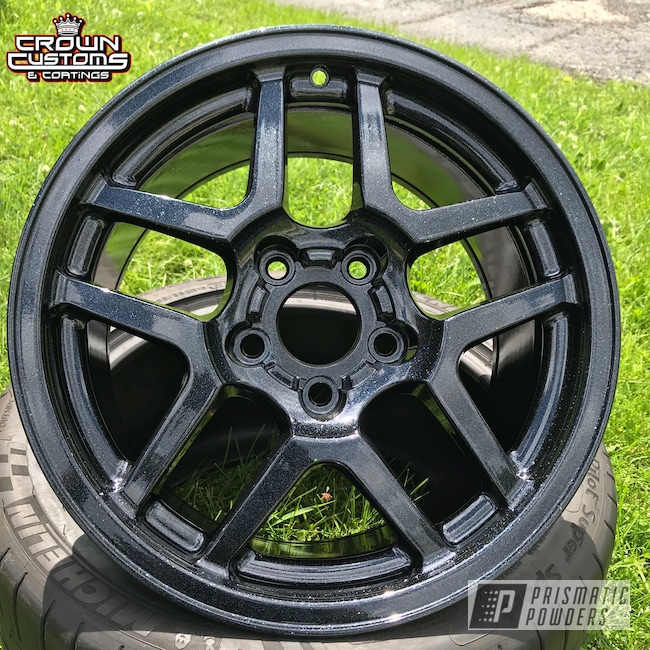 Powder Coating: Wheels,Automotive,Corvette Z06,Silver Sparkle PPB-4727,Chevrolet,Metallic Powder Coating