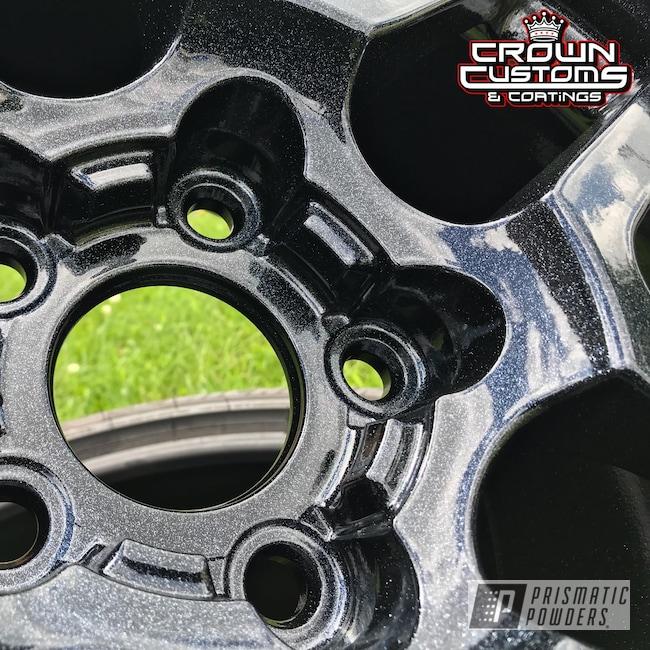 Powder Coating: Wheels,Automotive,Corvette Z06,Silver Sparkle PPB-4727,Chevrolet,Metallic Powder Coating