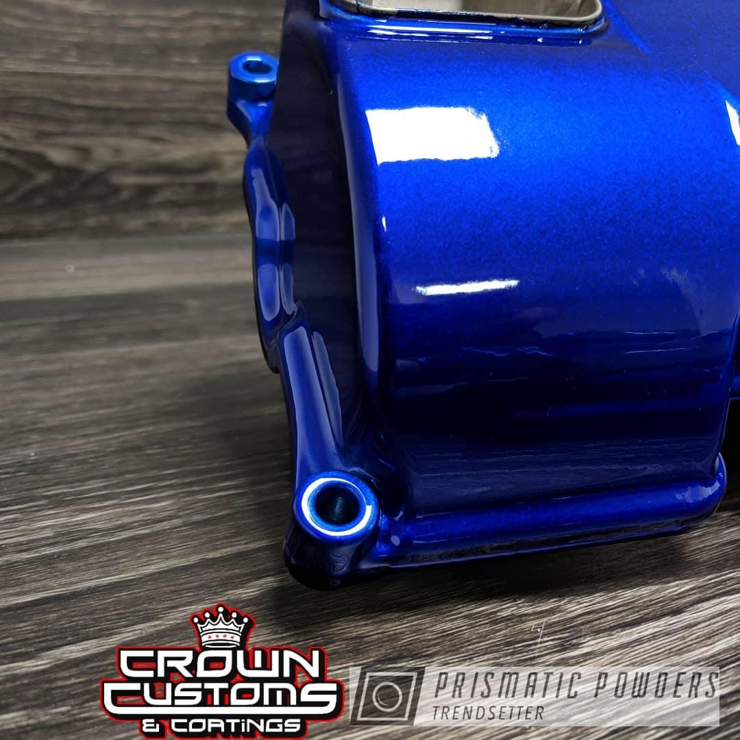 Powder Coating: Auto Parts,Automotive,Engine Parts,Alien Silver PMS-2569,Intense Blue PPB-4474,Valve Cover