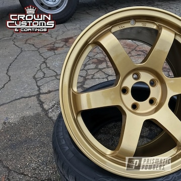 Te37 Replica Wheels In Clear Vision And Spanish Gold