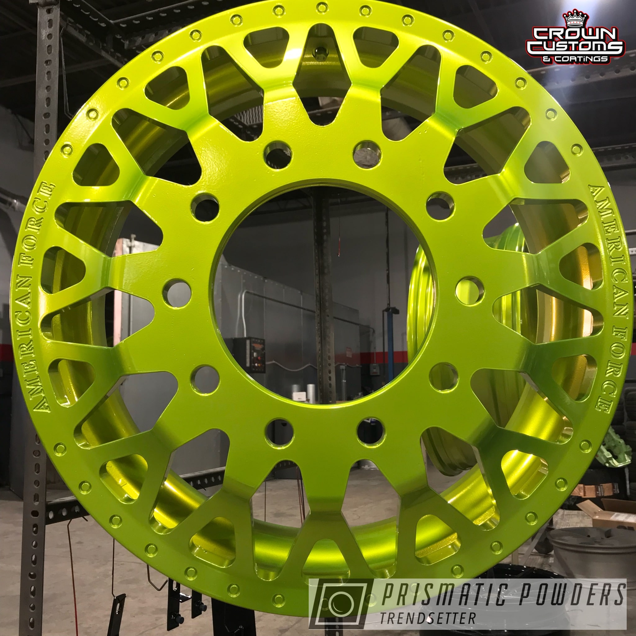 Powder Coating: Wheels,Automotive,Truck,Clear Vision PPS-2974,Two Piece Wheels,American Force Wheels,Illusion Shocker PMB-10050,Illusion Series Powder Coating