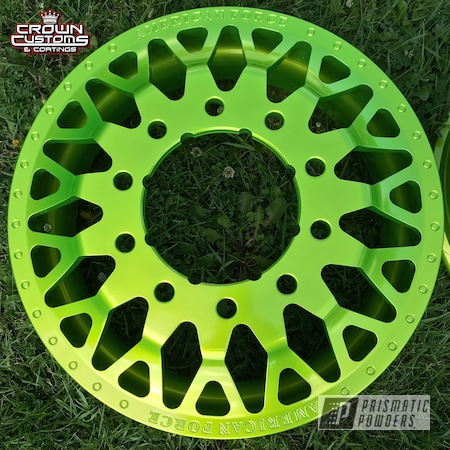 Powder Coating: Wheels,Automotive,Clear Vision PPS-2974,Monster Truck,Two Piece Wheels,American Force Wheels,Illusion Shocker PMB-10050,Illusion Series Powder Coating