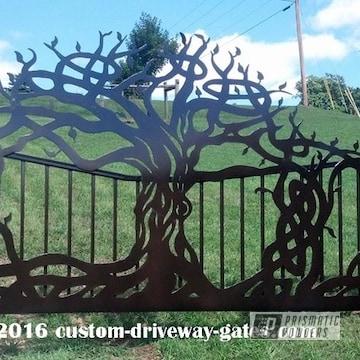 Powder Coated Ornamental Driveway Gate