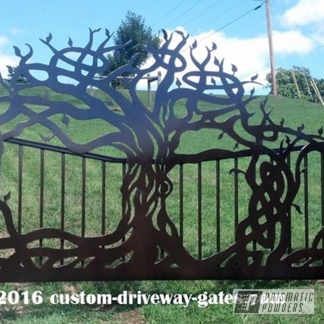 Powder Coated Ornamental Driveway Gate