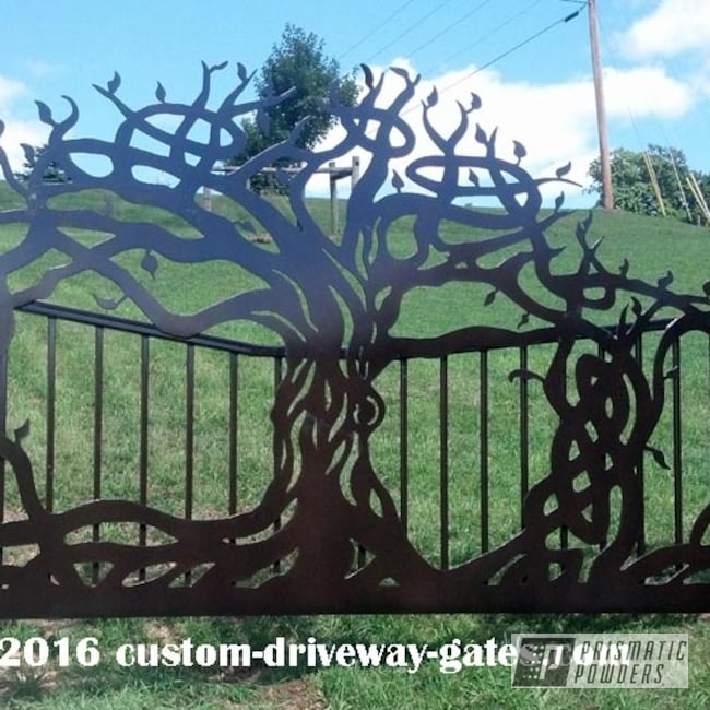 Powder Coating: JDR Metal Art,Driveway Gates,Oil Rubbed Bronze PCB-1102,Ornamental,Miscellaneous
