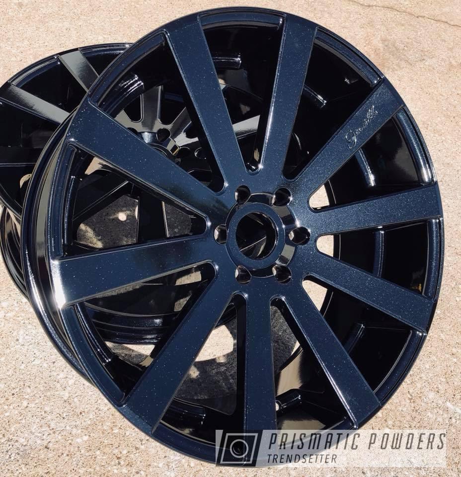 Powder Coating: Wheels,Automotive,Gianelle,Wheel,Black,Pearl Black PMB-5347,Metallic Powder Coating,Giovanna