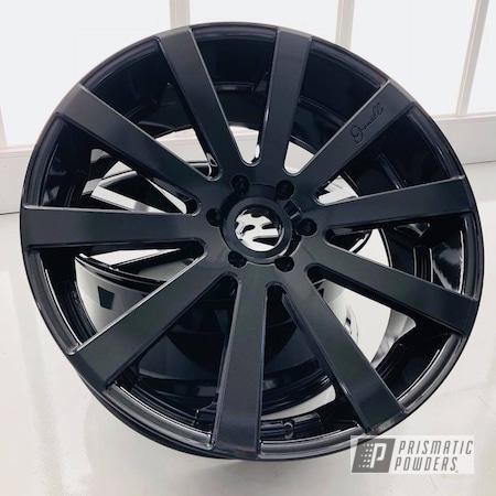 Powder Coating: Wheels,Automotive,Gianelle,Black,Pearl Black PMB-5347,Metallic Powder Coating,Giovanna