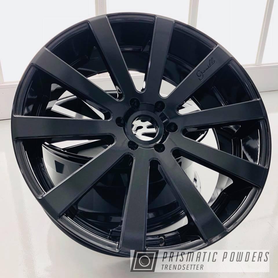 Powder Coating: Wheels,Automotive,wheel,Gianelle,Black,Pearl Black PMB-5347,Metallic Powder Coating,Giovanna