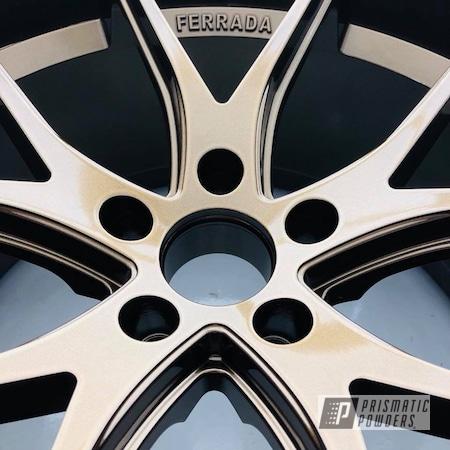 Powder Coating: Wheels,Ferrada,Automotive,Bronze,chrome,Bronze Chrome PMB-4124,Metallic Powder Coating