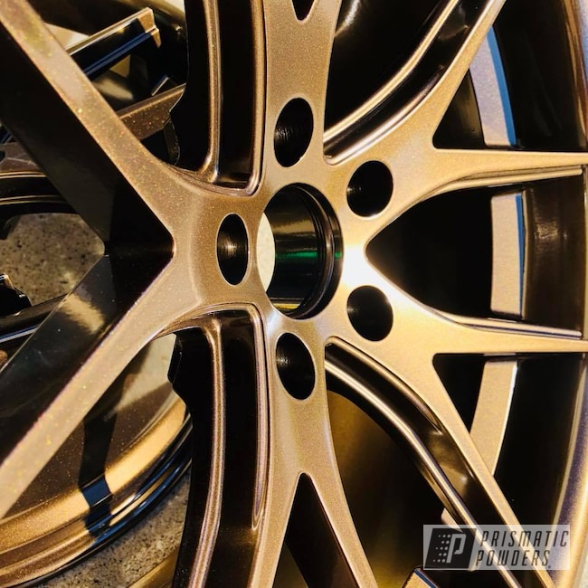 Powder Coating: Wheels,Ferrada,Automotive,Bronze,chrome,Bronze Chrome PMB-4124,Metallic Powder Coating
