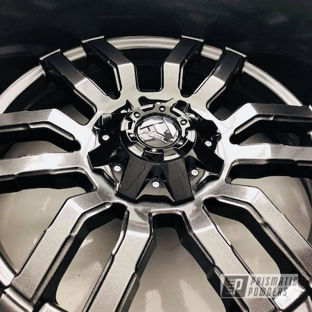 Powder Coating: Wheels,Automotive,Fuel,Monster Truck,Forged,Off-Road,Grey,Metallic Powder Coating,Cadillac Grey PMB-6377