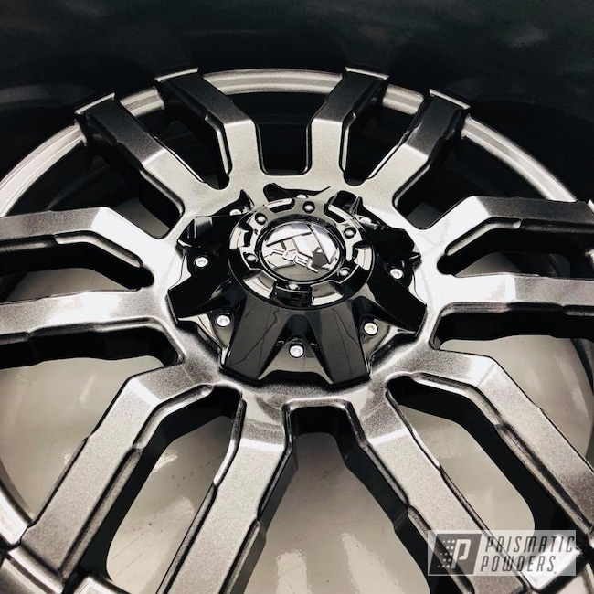Powder Coating: Wheels,Automotive,Fuel,Monster Truck,Forged,Off-Road,Grey,Metallic Powder Coating,Cadillac Grey PMB-6377