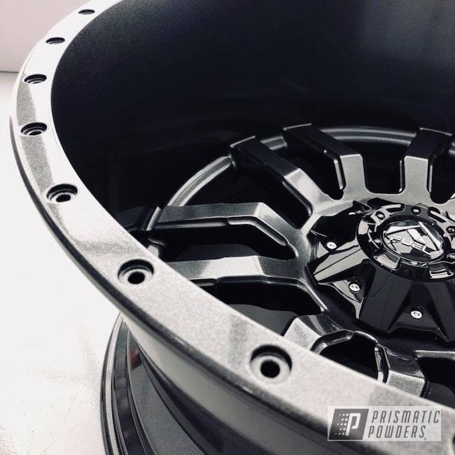 Powder Coating: Wheels,Automotive,Fuel,Monster Truck,Forged,Grey,Metallic Powder Coating,Cadillac Grey PMB-6377,Offroad