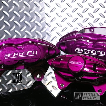 Powder Coated Purple Akebono Brake Calipers
