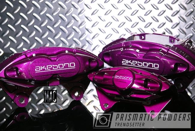 Powder Coating: Automotive,Illusion Powder Coating,Clear Vision PPS-2974,Brake Calipers,brakecalipers,Akebono,Illusion Malbec PMB-6906