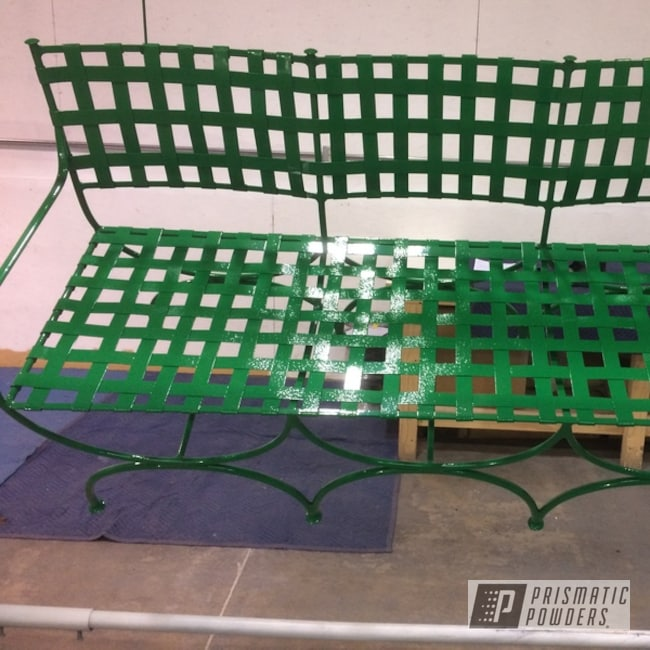 Powder Coated Green Vintage Patio Furniture