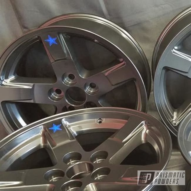 Powder Coated Grey Silver Auto Wheels