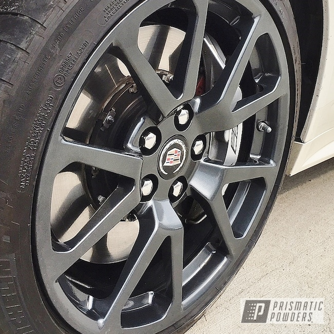 Powder Coating: Wheels,Automotive,Evo Grey PMB-5969,Rims,CTSV,Cadillac