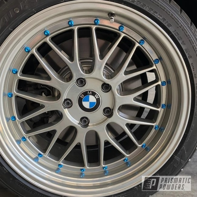 Powder Coating: Wheels,Automotive,Clear Vision PPS-2974,SUPER CHROME USS-4482,Two Stage Application,Custom Wheels,BMW