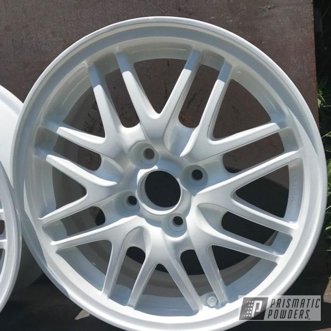 Powder Coating: Wheels,Lowdered,Automotive,Custom Wheels,Honda,Polar White PSS-5053,15