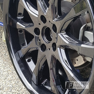 Wheels Powder Coated In Pearl Black