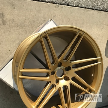 Powder Coated Wheels In Satin Poly Gold