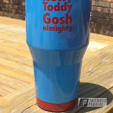 Powder Coated Ole Miss 40 Oz Tumbler Cup