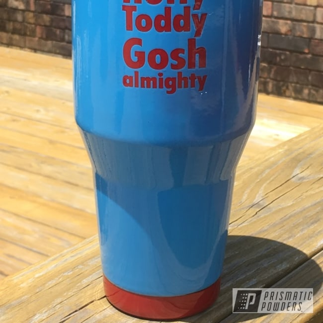 Powder Coated Ole Miss 40 Oz Tumbler Cup