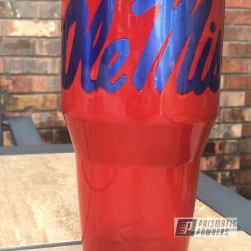 Powder Coated Ole Miss Rebels 40oz Tumbler Custom Cup