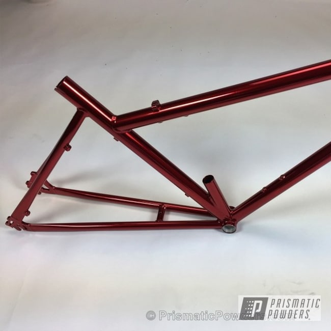 Powder Coating: DAZZLING RED UPB-1453,Bicycles,SUPER CHROME USS-4482,chrome