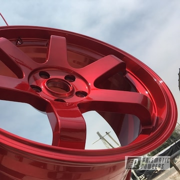 Powder Coated Red Wheels