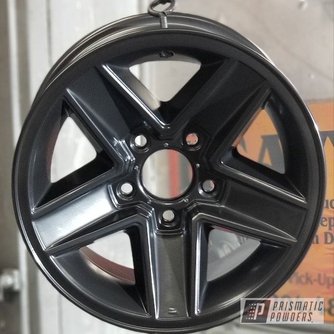 Powder Coated Rims In Black Chrome Iii