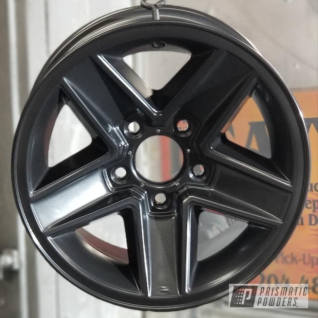 Powder Coating: Automotive,Rims,Black Chrome III PPB-6677