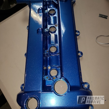 Powder Coating: Automotive,Clear Vision PPS-2974,SUPER CHROME USS-4482,Iced Candy Blue PPB-7086,Engine Cover