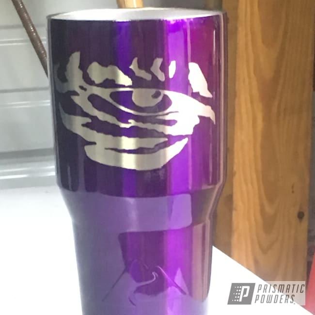 Powder Coating: Tumbler,Drinkware,30oz,Custom Cup,Lollypop Purple PPS-1505,Ozark Trail