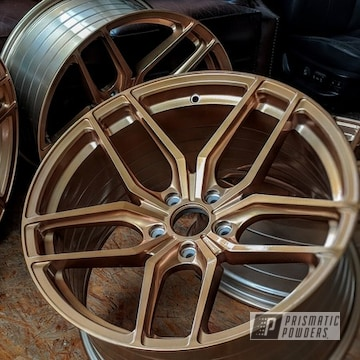Powder Coated Wheels In Illusion True Copper And Clear Vision