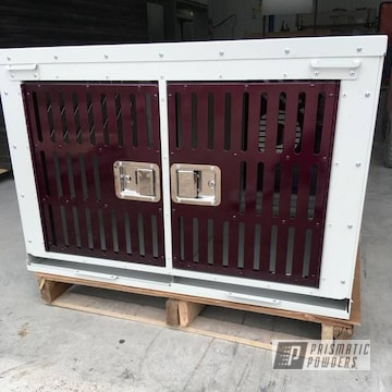 Custom Dog Kennel In Illusion Malbec And Clear Vision