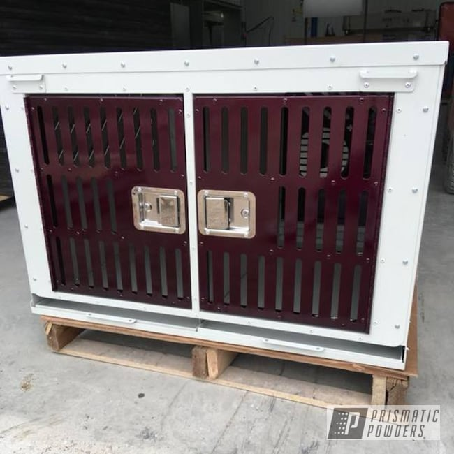Powder Coating: Kennel,Custom Crate,Clear Vision PPS-2974,dog kennel,TNC Fab,Malbec,Crate,Wine,Illusion Malbec PMB-6906