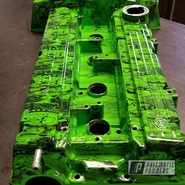 Valve Cover In Clear Vision And Kiwi Green